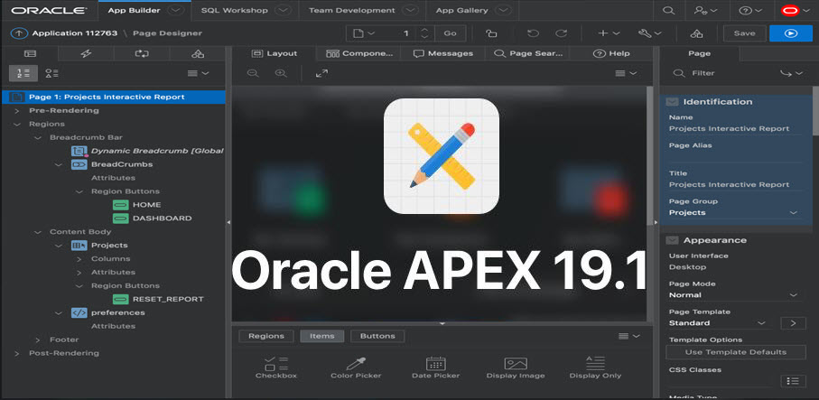 اوراکل اپکس-oracle apex 19.1