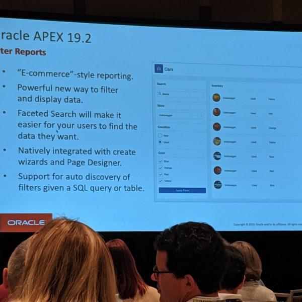 اوراکل اپکس-Filter Report on APEX