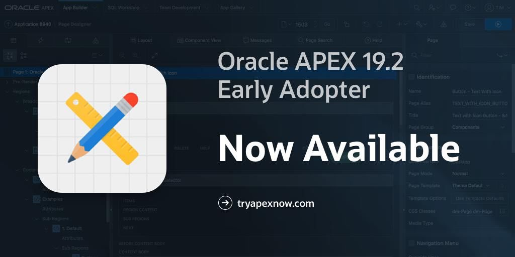 اوراکل اپکس-Oracle APEX 19.2-EA