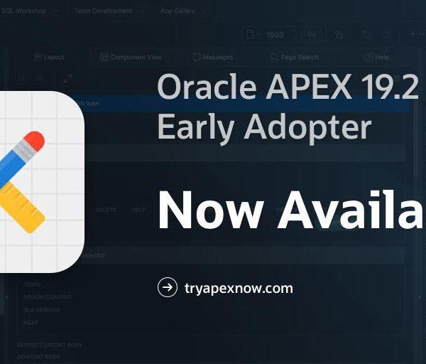 اوراکل اپکس-Oracle APEX 19.2-EA