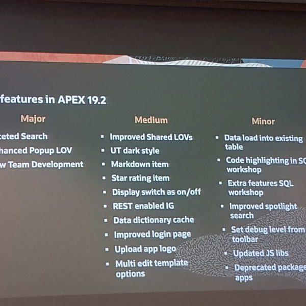 اوراکل اپکس-all new features apex 19.2