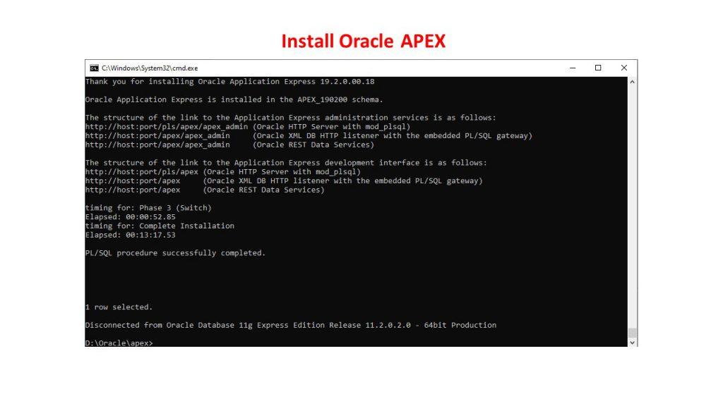 نصب و راه اندازی (Standalone) اوراکل اپکس(ایپکس)-17